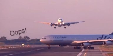 Barcelona 'near miss' video: Planes appear to avoid collision
