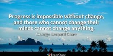 Change is Progress